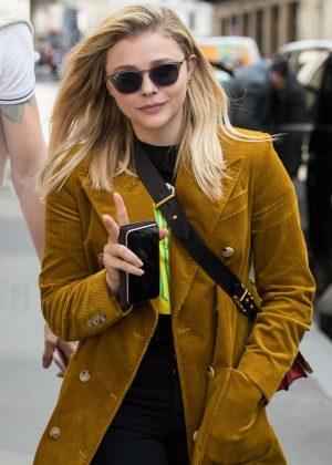 Chloe Moretz - Leaving Plaza Athenee hotel in Paris