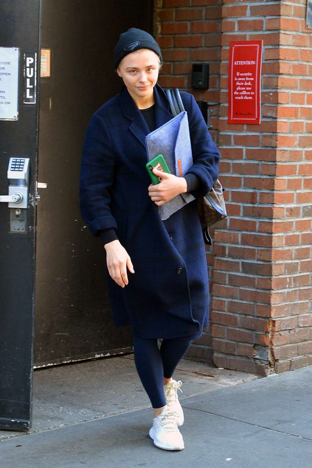 Chloe Moretz: Leaving the gym in NYC -01