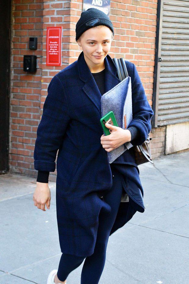 Chloe Moretz - Leaving the gym in NYC