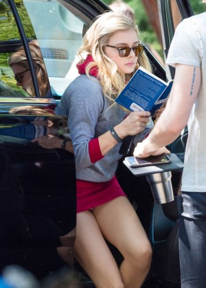 Chloe Moretz - On Set of 'Neighbors 2 Sorority Rising' in Atlanta