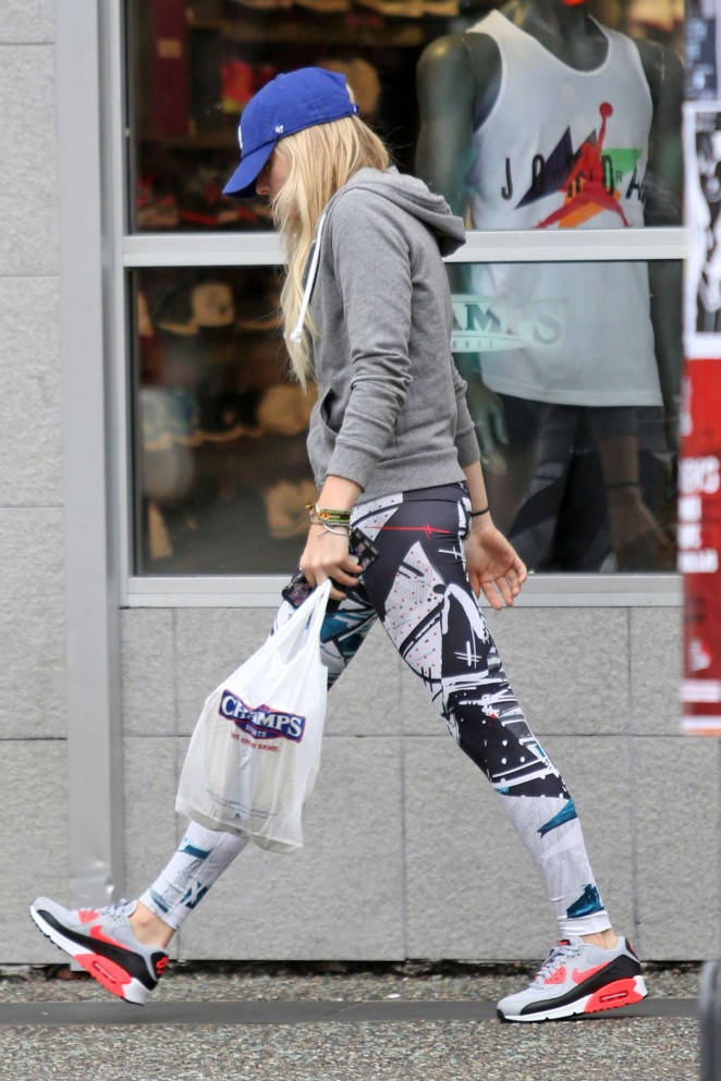 Chloe Moretz in Tights out in Vancouver