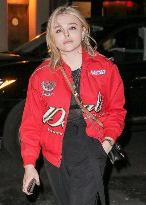 Chloe Moretz out for dinner in New York City
