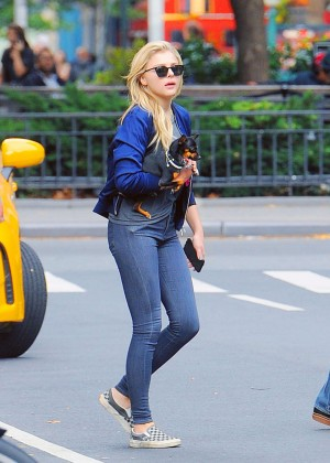 Chloe Moretz in Jeans out in NY