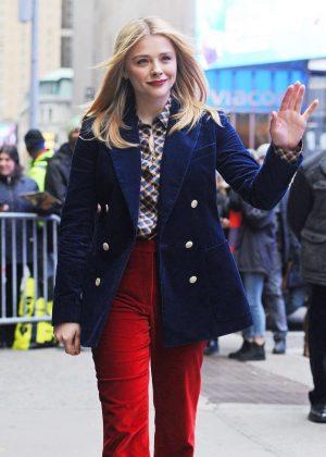 Chloe Moretz - Outside Good Morning America in NYC