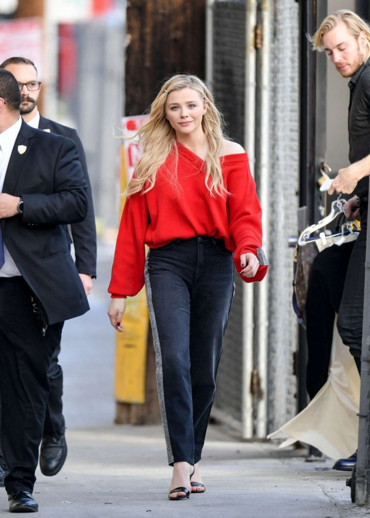 Chloe Moretz: Outside Jimmy Kimmel Live -01