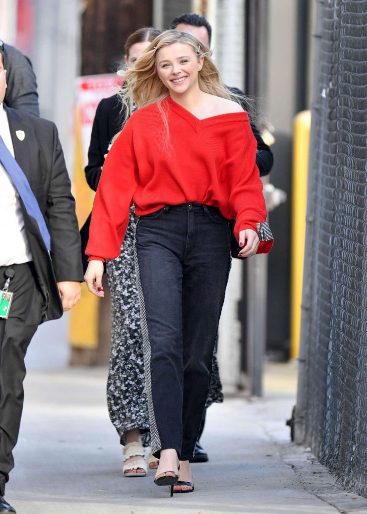 Chloe Moretz: Outside Jimmy Kimmel Live -04