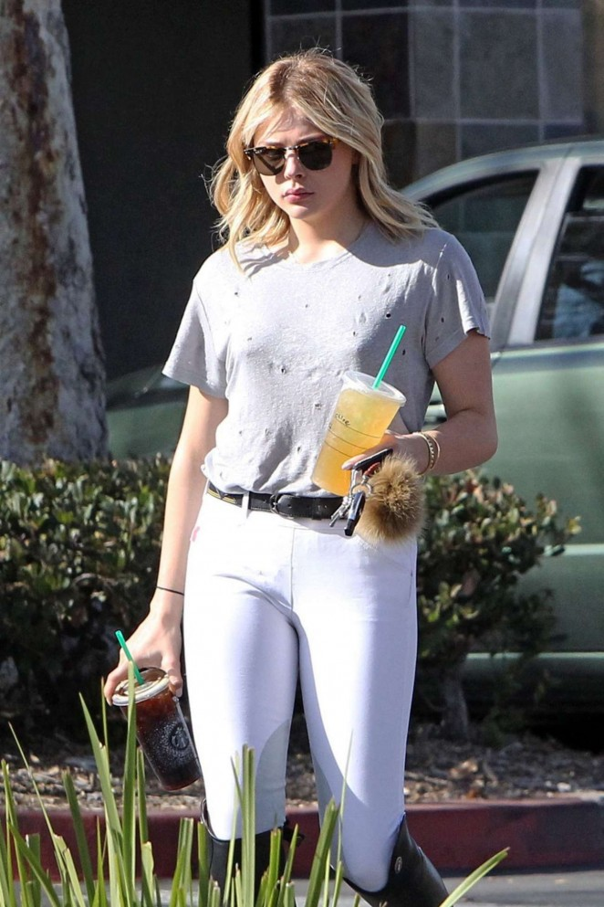 Chloe Moretz - Riding a Horse in Los Angeles
