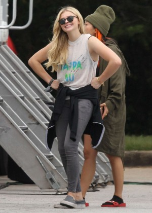 Chloe Moretz - Set of 'Neighbors 2: Sorority Rising' in Atlanta