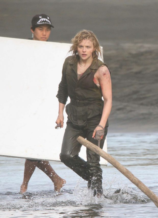 Chloe Moretz - 'Shadow in the Cloud' movie set in New Zealand