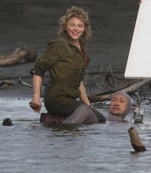 Chloe Moretz: Shadow in the Cloud movie set in New Zealand -29