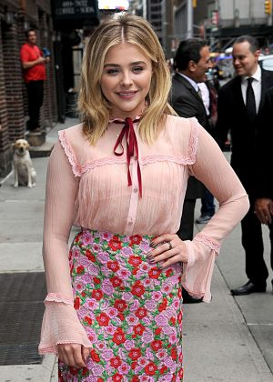 Chloe Moretz visits The Late Show with Stephen Colbert in NYC