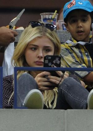 Chloe Moretz - Watching the US Open in New York