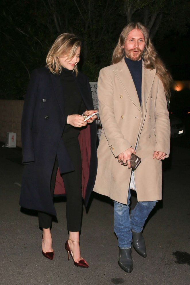 Chloe Moretz with a friend at Matsuhisa in NYC