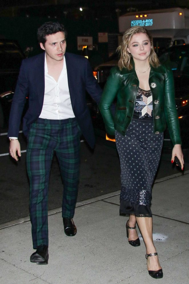 Chloe Moretz with Brooklyn Beckham out in NYC