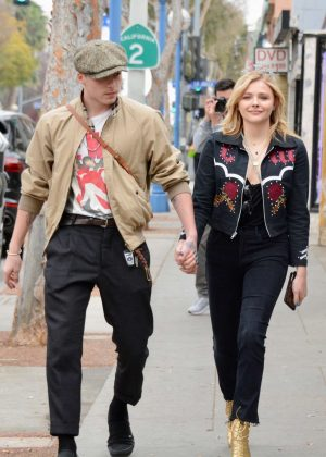 Chloe Moretz with her boyfriend Brooklyn out in Los Angeles