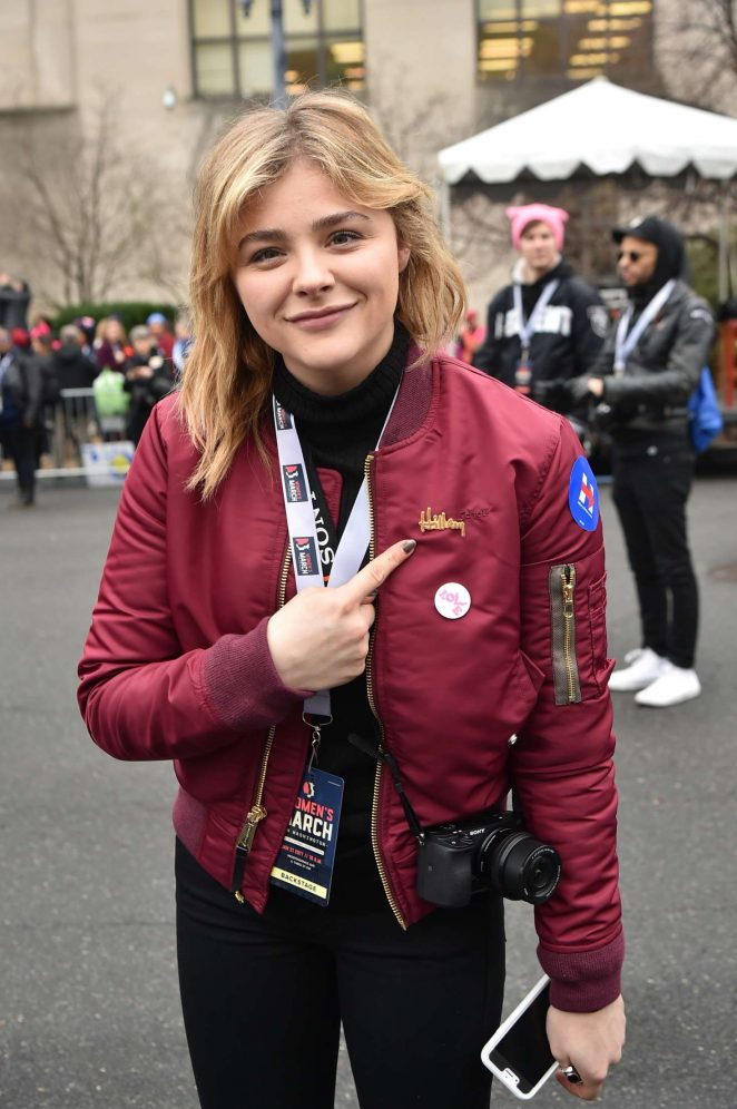 Chloe Moretz - Women's March on Washington