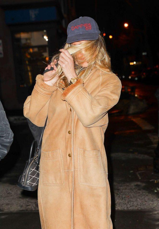 Chloe Sevigny hides behind her hair in NYC