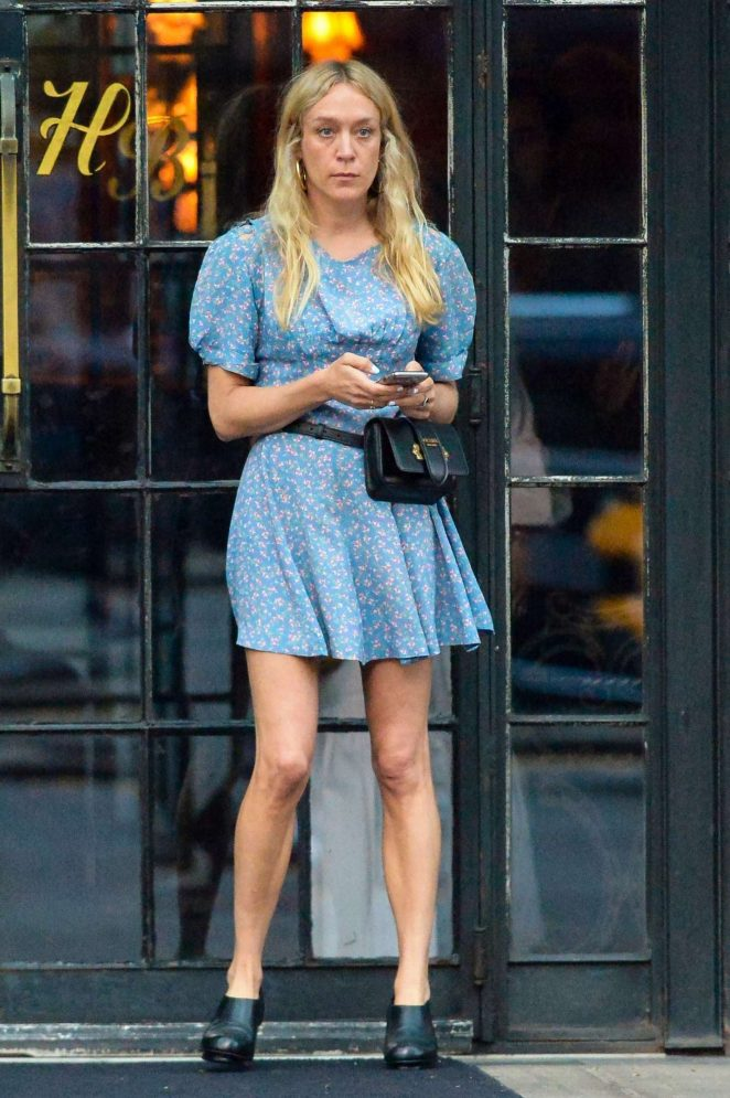 Chloe Sevigny in Mini Dress at The Bowery Hotel in NYC