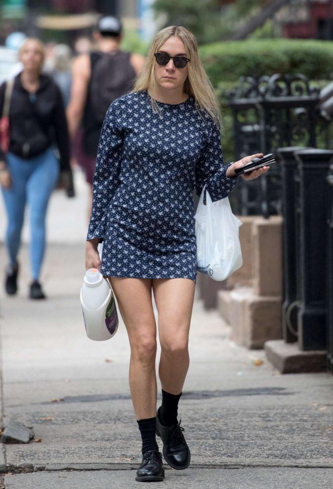 Chloe Sevigny in Mini Dress out in New York