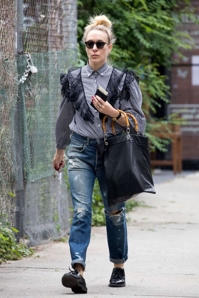 Chloe Sevigny in Ripped Jeans Out in New York