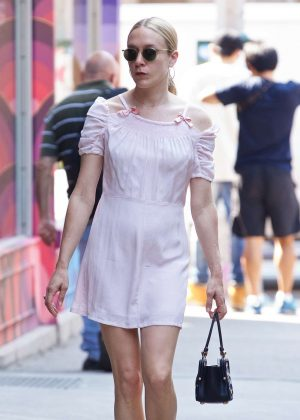 Chloe Sevigny in Short Dress out in New York City