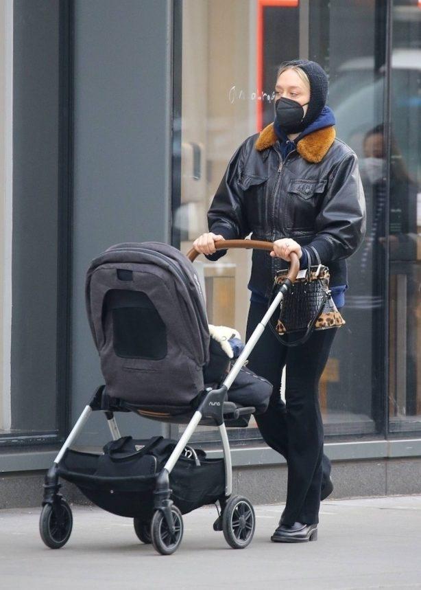 Chloe Sevigny - On a stroll with her baby boy Vanja in New York