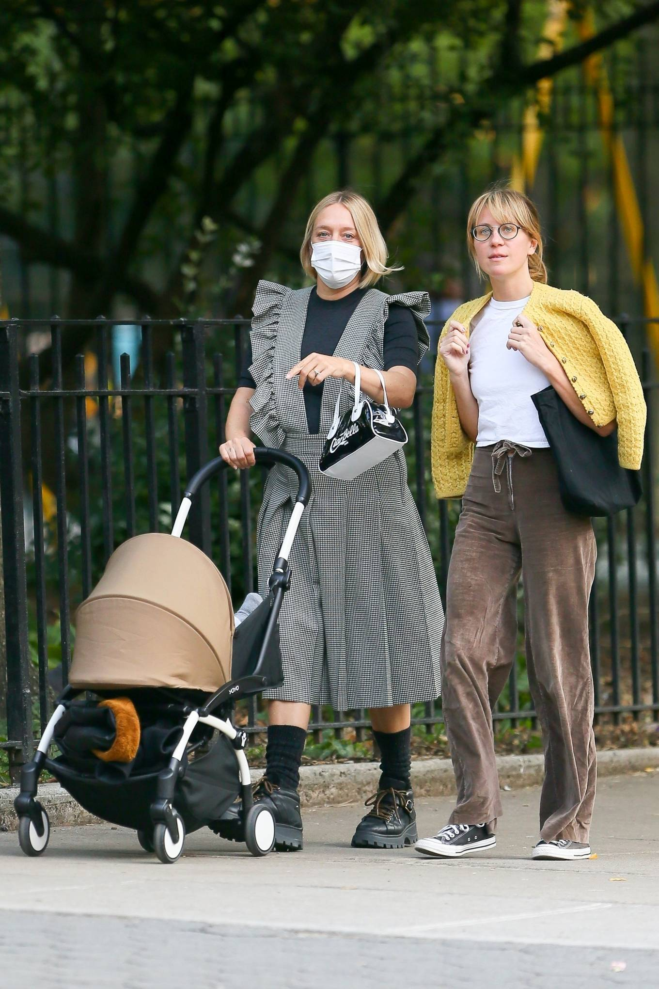 Chloe Sevigny - Out for a walk with her baby and a friend in New York