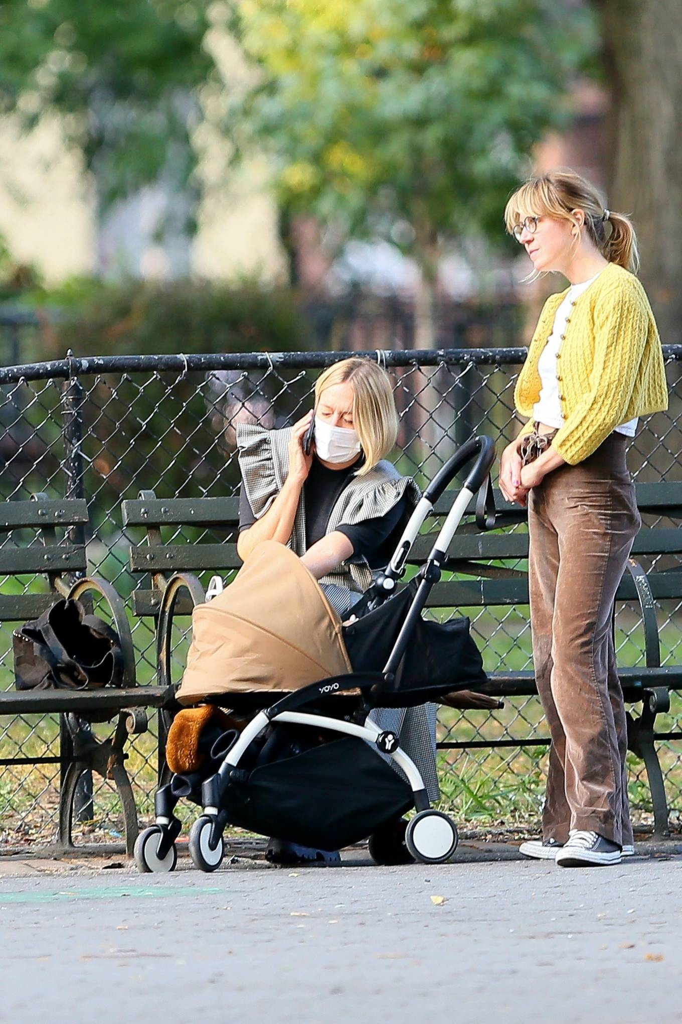 Chloe Sevigny 2020 : Chloe Sevigny – Out for a walk with her baby and a friend in New York-08