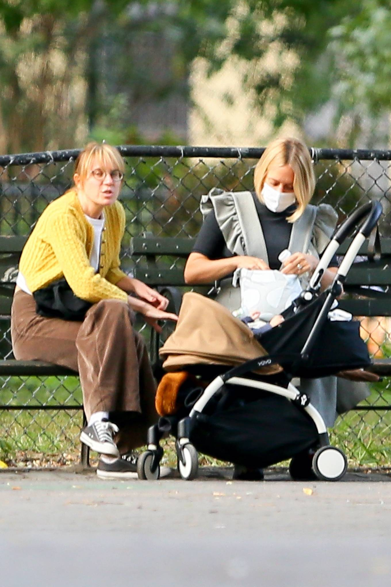 Chloe Sevigny 2020 : Chloe Sevigny – Out for a walk with her baby and a friend in New York-09