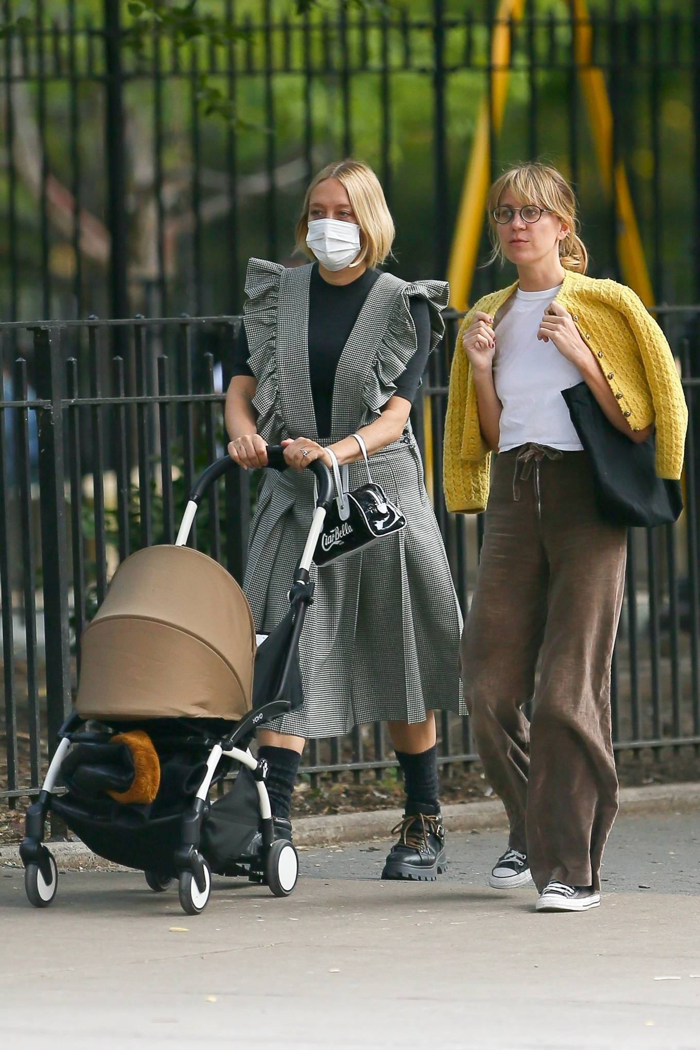 Chloe Sevigny 2020 : Chloe Sevigny – Out for a walk with her baby and a friend in New York-10