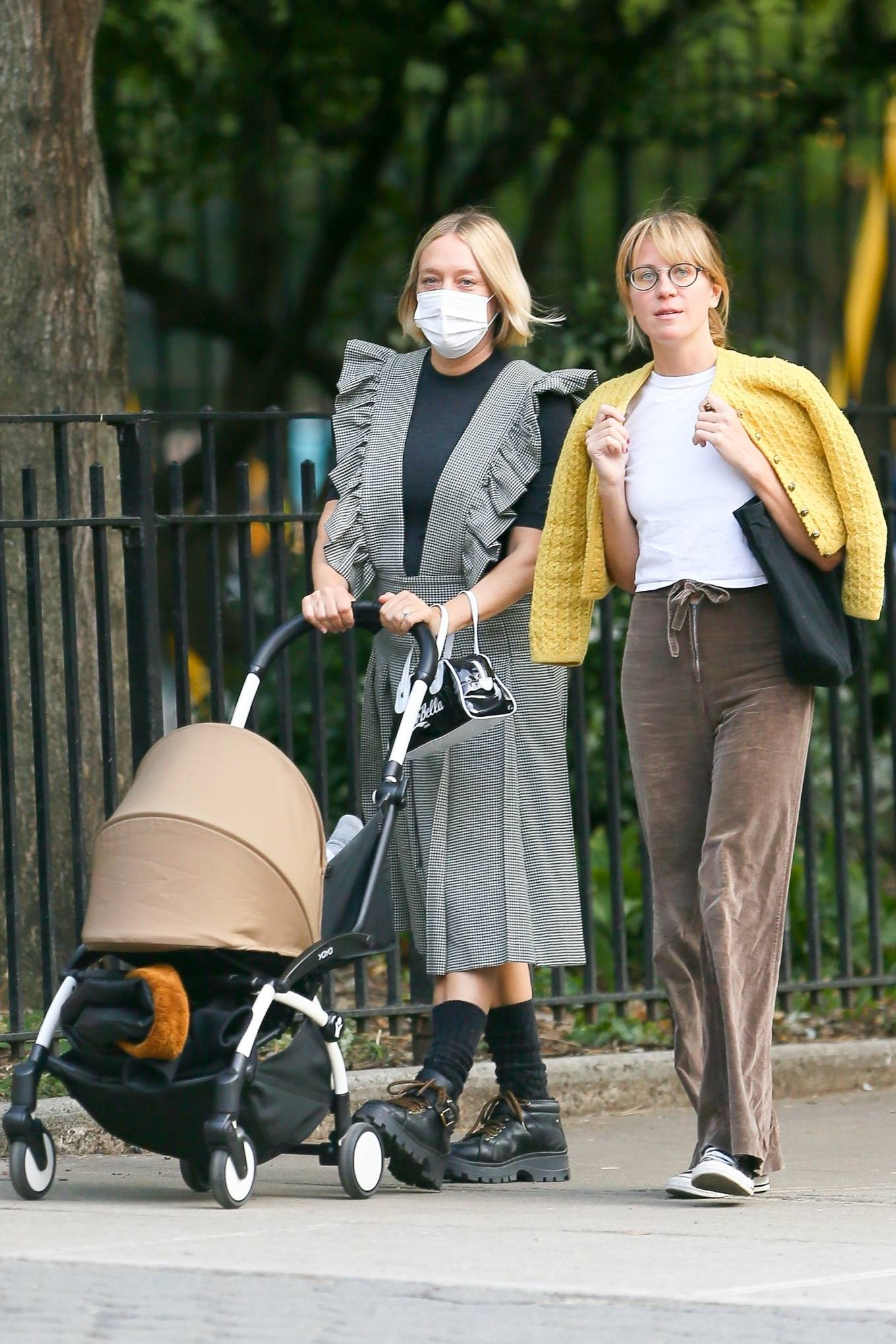 Chloe Sevigny 2020 : Chloe Sevigny – Out for a walk with her baby and a friend in New York-11