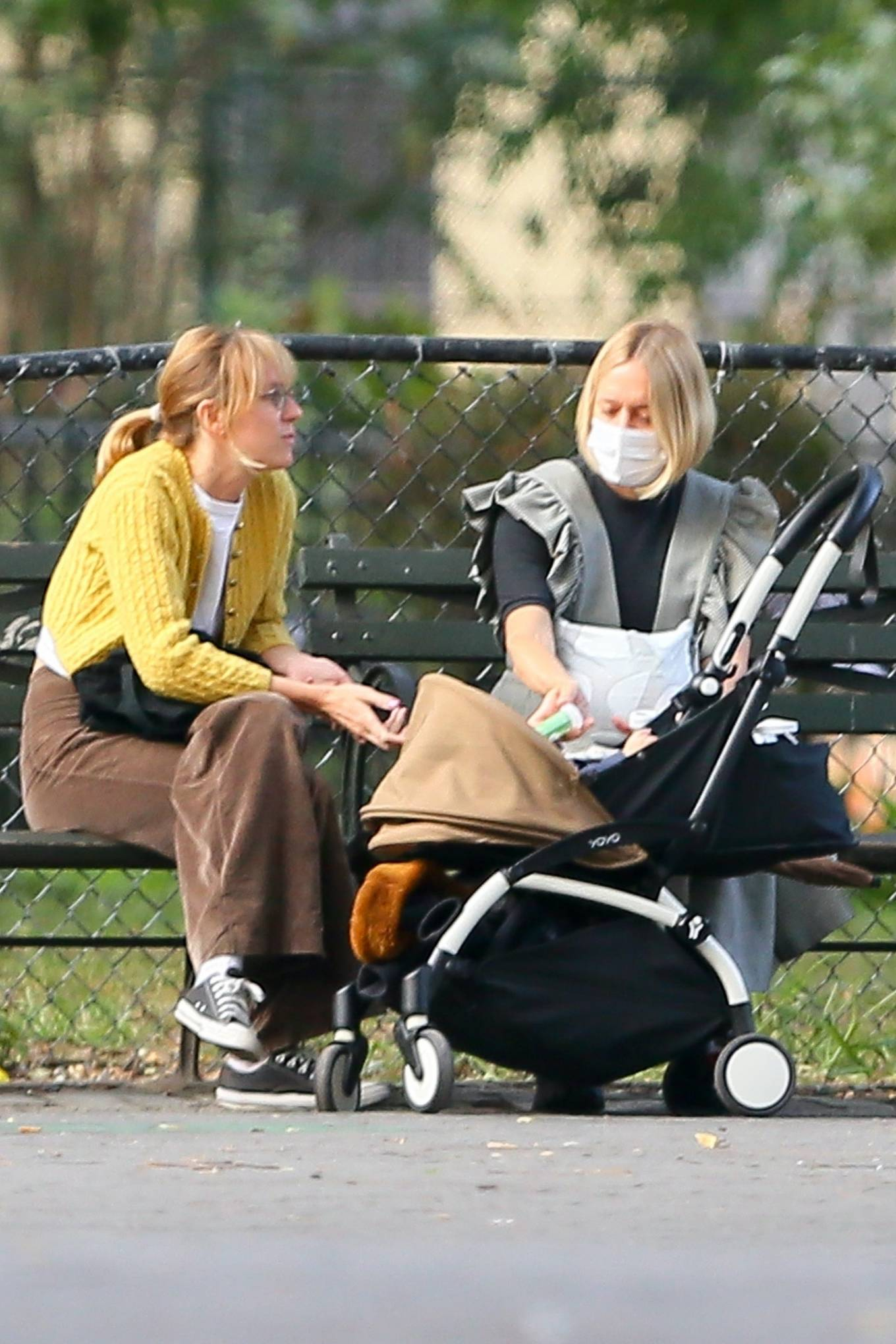 Chloe Sevigny 2020 : Chloe Sevigny – Out for a walk with her baby and a friend in New York-12