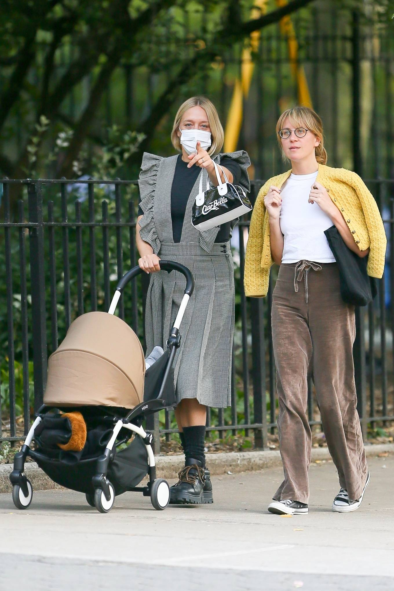 Chloe Sevigny 2020 : Chloe Sevigny – Out for a walk with her baby and a friend in New York-13
