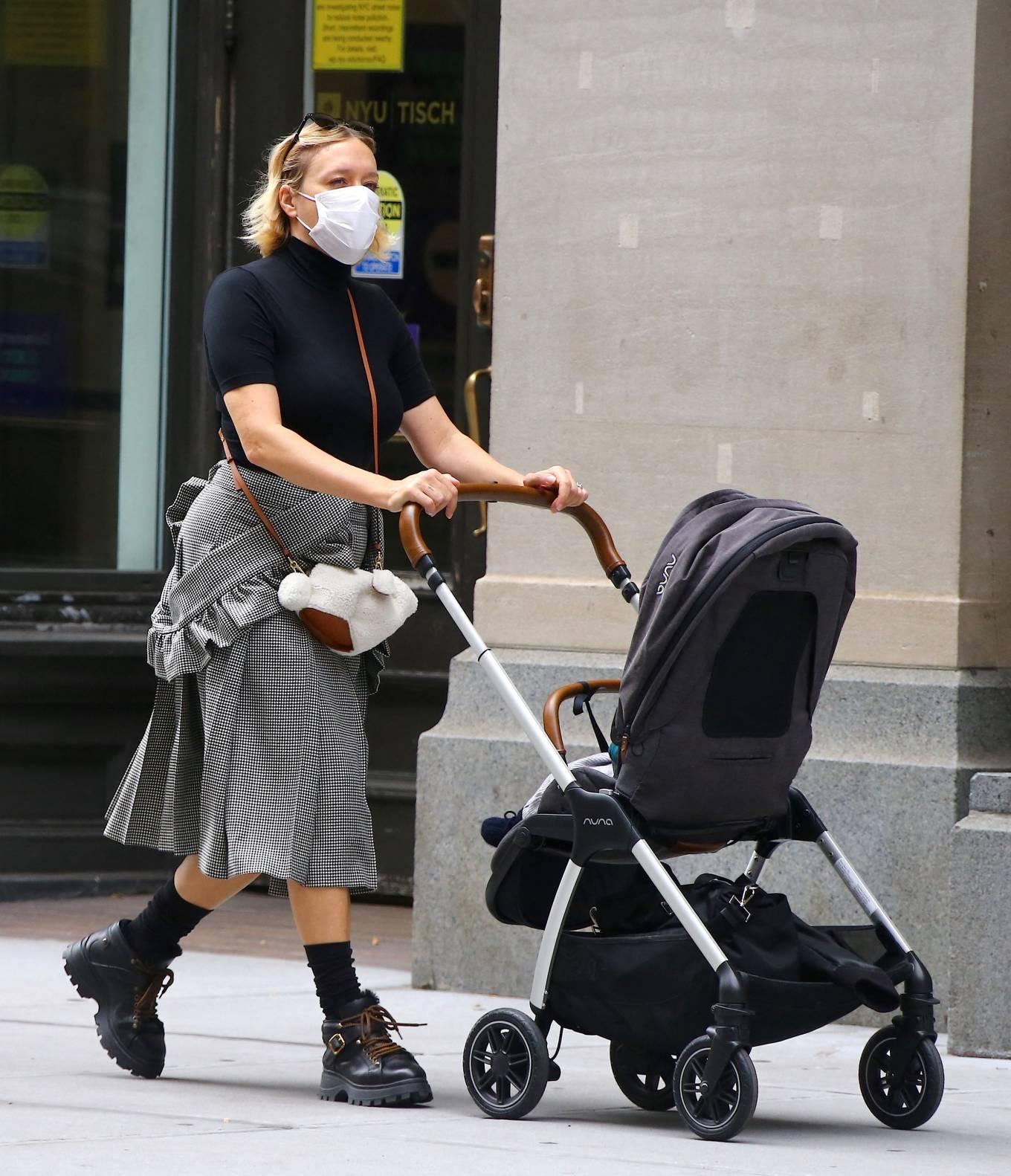 Chloe Sevigny 2020 : Chloe Sevigny – Out with her baby boy Vanja on Broadway in Noho-01