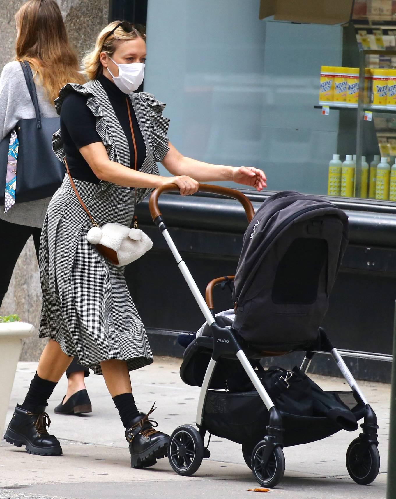 Chloe Sevigny 2020 : Chloe Sevigny – Out with her baby boy Vanja on Broadway in Noho-04