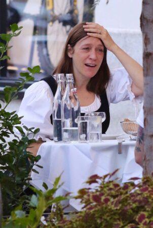Chloe Sevigny - Pictured during dinner in Manhattan's Soho area