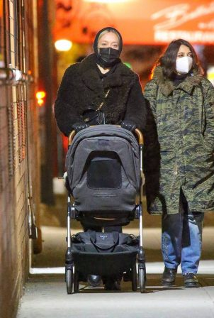Chloe Sevigny - Pushing her baby in a stroller at Sant Ambroeus in SoHo
