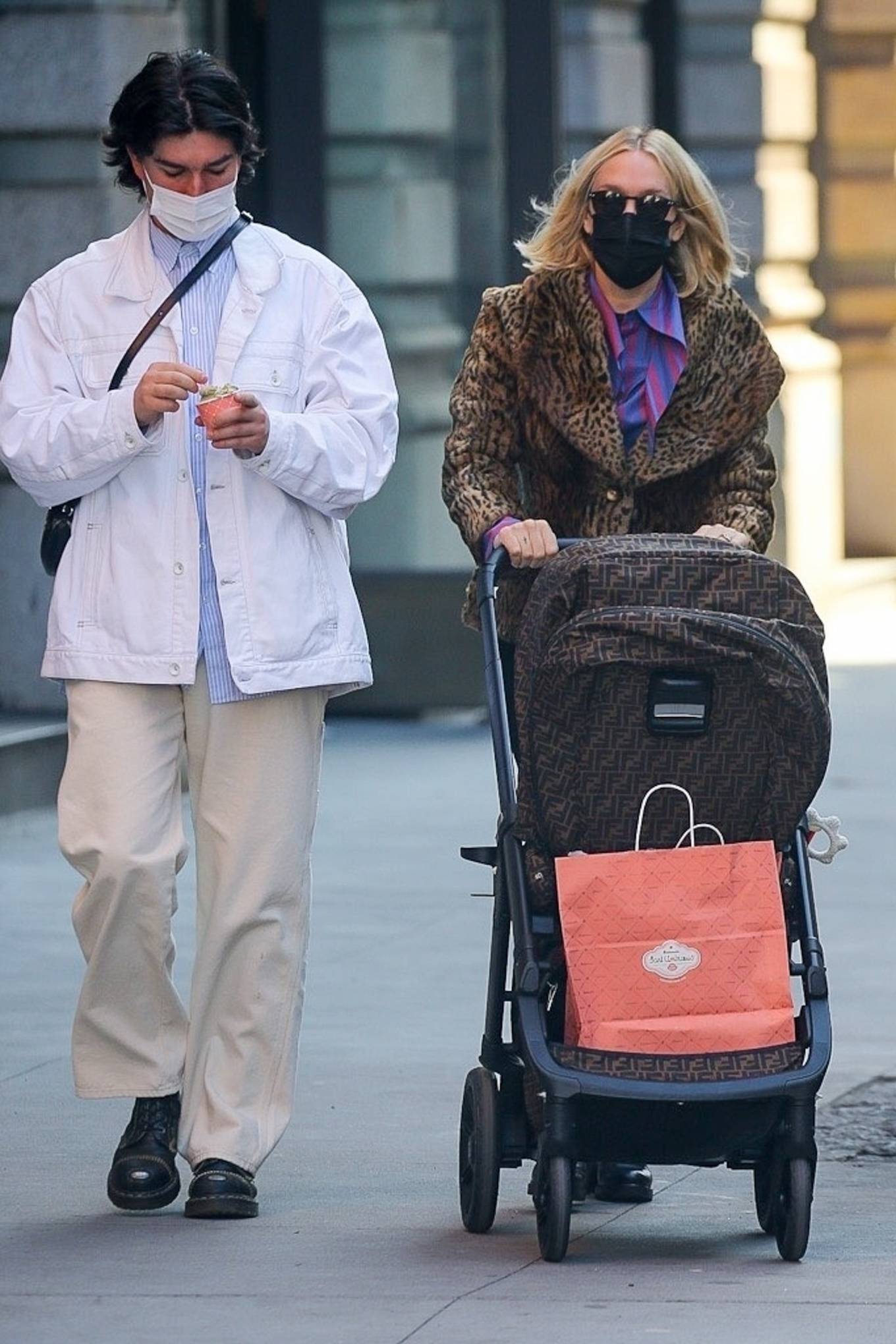 Chloe Sevigny - With husband Sinisa Mackovic strolling with their baby in New York