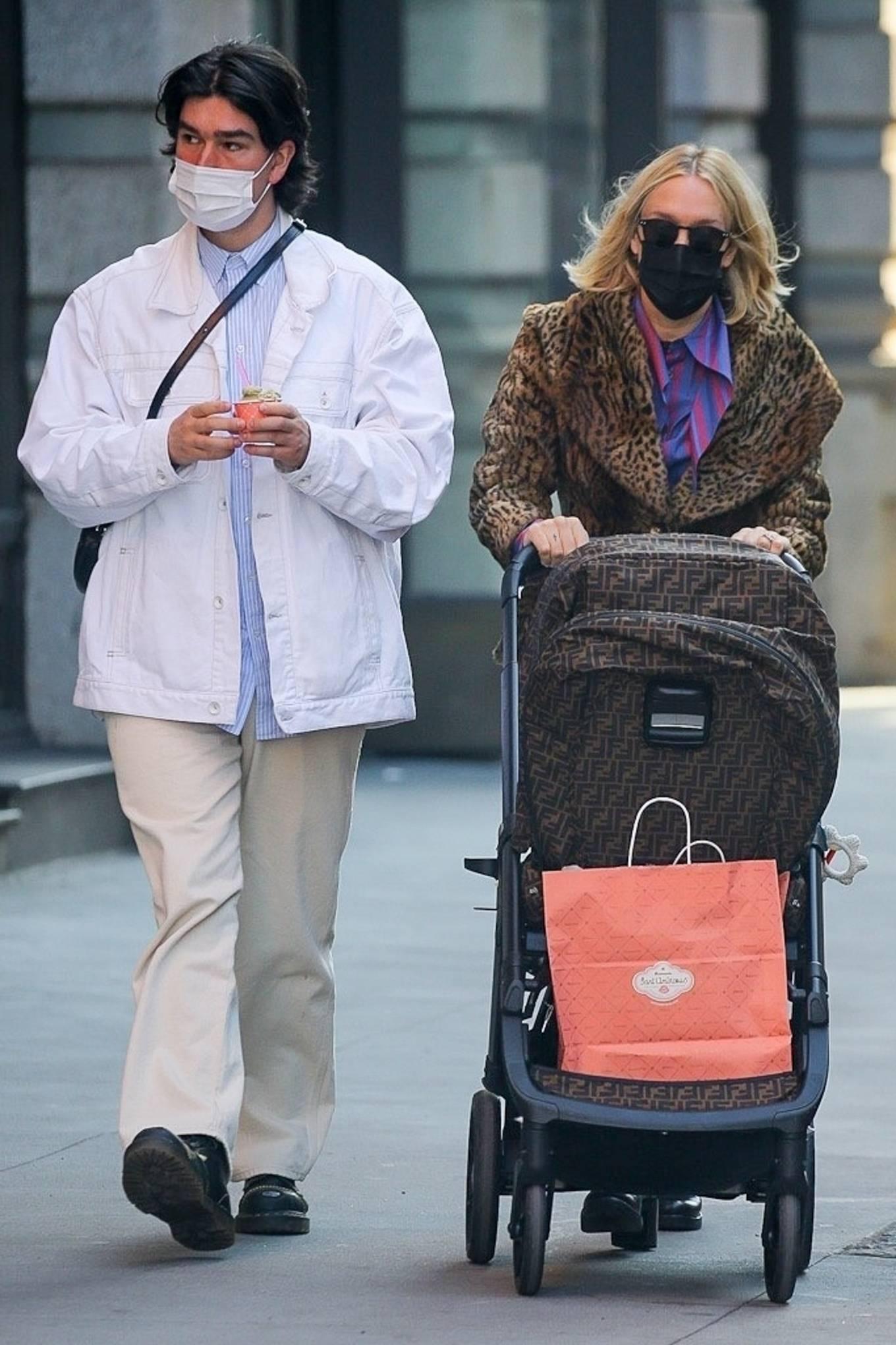Chloe Sevigny 2021 : Chloe Sevigny – With husband Sinisa Mackovic strolling with their baby in New York-03