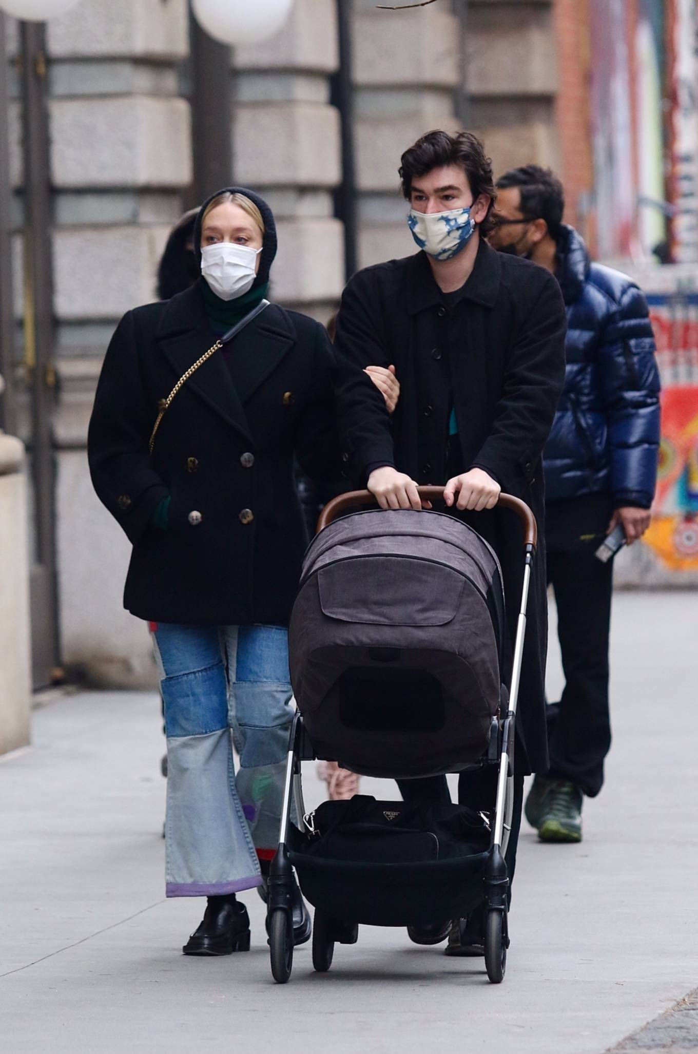 Chloe Sevigny - With Sinisa Mackovic and their baby in Manhattan's Soho area