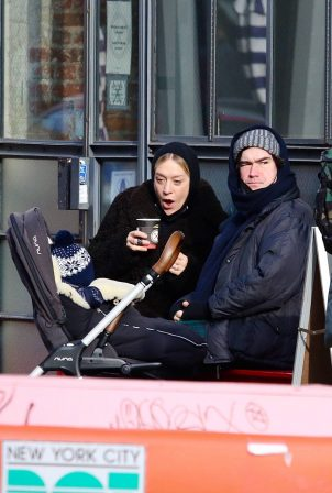 Chloe Sevigny - With Sinisa Mackovic out in cold New York