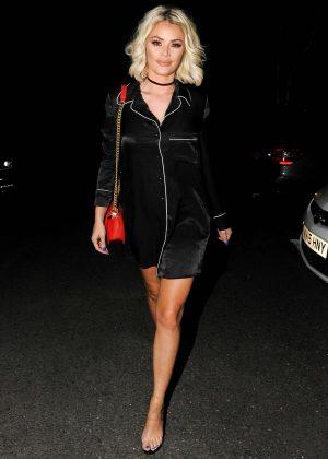 Chloe Sims - Arriving at Sheesh Restaurant in Essex