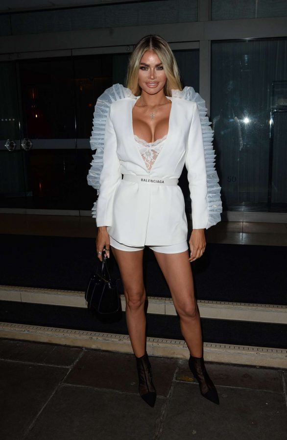 Chloe Sims - Club L Christmas Party at The Sanderson Hotel in London