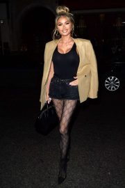 Chloe SIms - Leaving Park Chinois Restaraunt in Mayfair