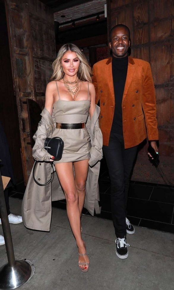 Chloe Sims - Night out with friend Vas Morgan to TAO in Hollywood