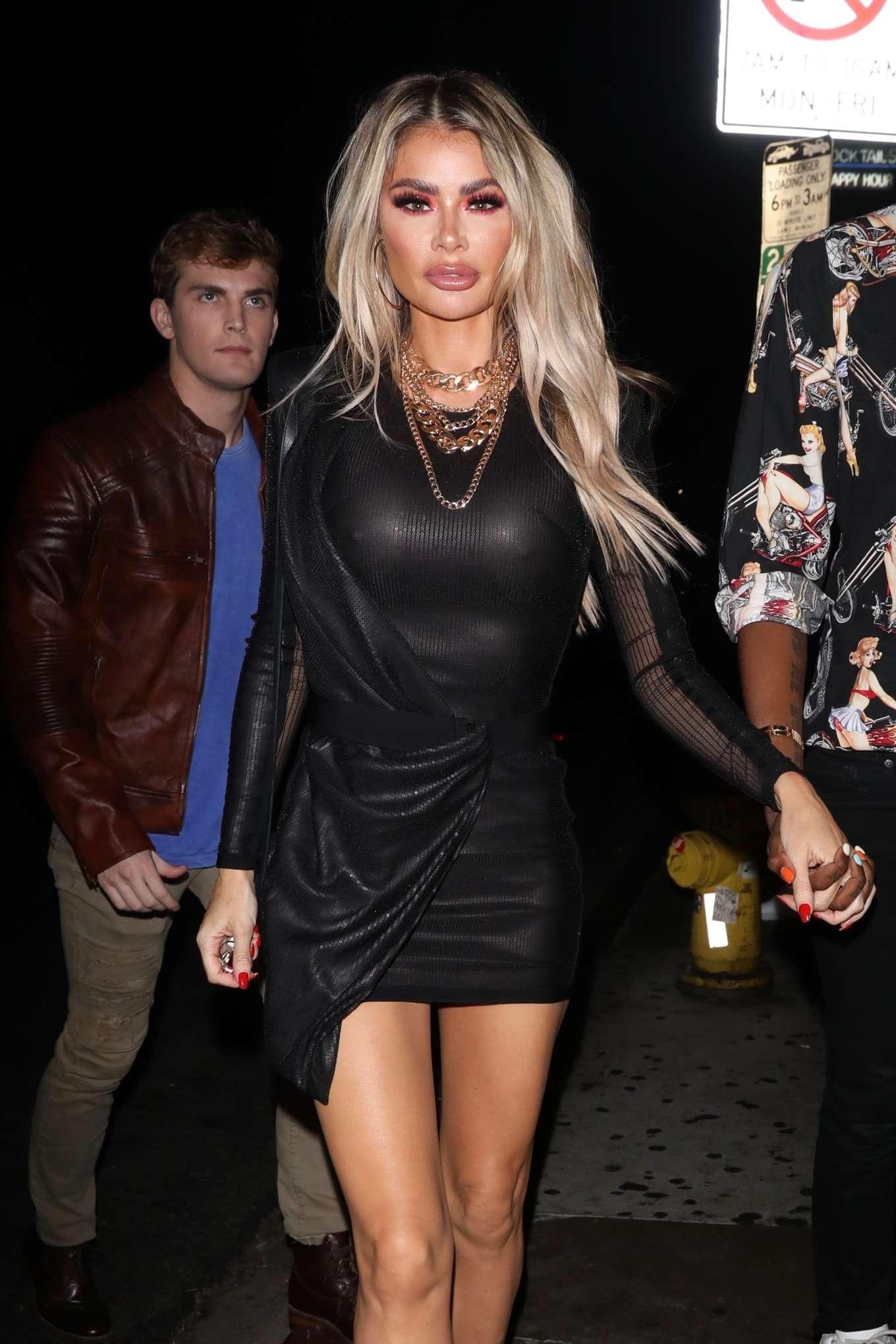 Chloe Sims - Night partying at Poppy Nightclub in West Hollywood