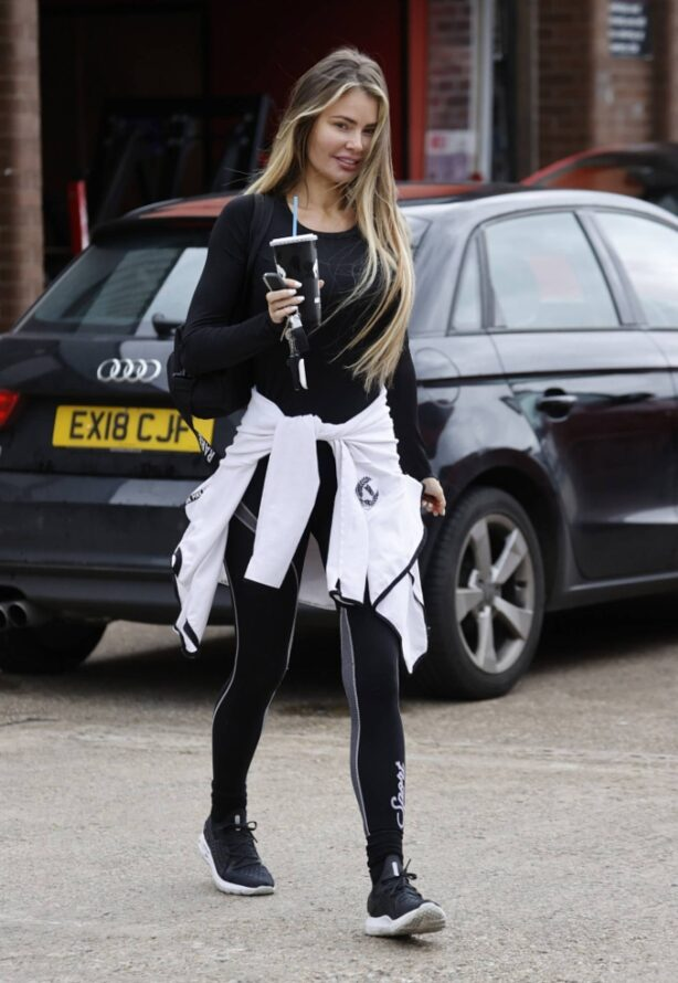 Chloe Sims - Seen make up free after a workout in Essex