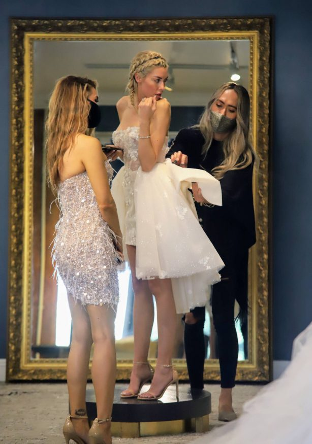 Chrishell Stause and Heather Rae Young - Wedding dress shopping in Los Angeles