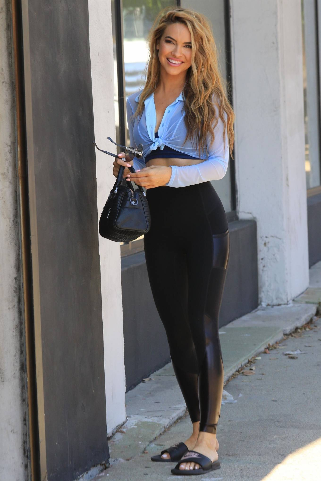 Chrishell Stause - DWTS studio candids in Los Angeles