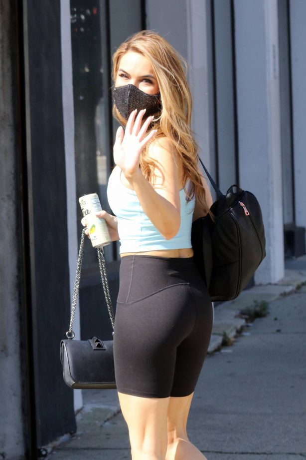 Chrishell Stause - Heads to the DWTS studio in Los Angeles